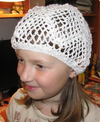 Вот такой летний берет  для дочки по мастер- классу Голубки http://stranamasterov.ru/node/79475 фото 1