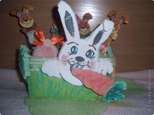 вот такую корзинку я смастерила на пасху детям для яиц:))))))))))) фото 1