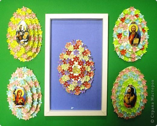 Наши пасхальные яйца, они многоэтажные. идею подсмотрела фото 1