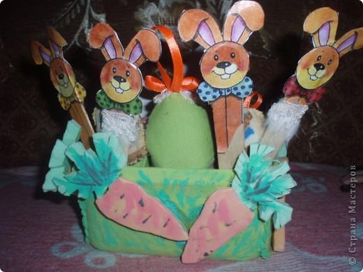 вот такую корзинку я смастерила на пасху детям для яиц:))))))))))) фото 2