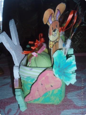 вот такую корзинку я смастерила на пасху детям для яиц:))))))))))) фото 3