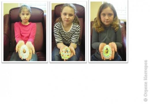 Наши пасхальные яйца, они многоэтажные. идею подсмотрела фото 2