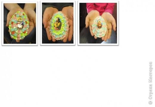 Наши пасхальные яйца, они многоэтажные. идею подсмотрела фото 3