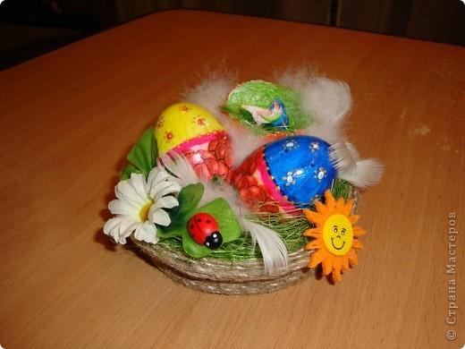Сделали с внуком поделку к празднику Пасха  для школы..... фото 1