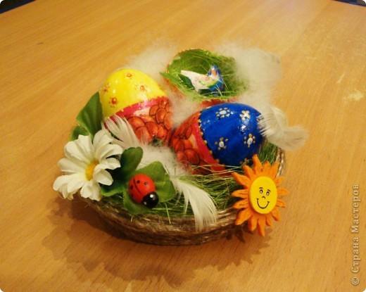 Сделали с внуком поделку к празднику Пасха  для школы..... фото 5