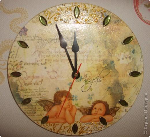 Часы Ангелы.Декупаж. фото 1
