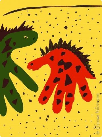 Жираф- ладошка фото 5