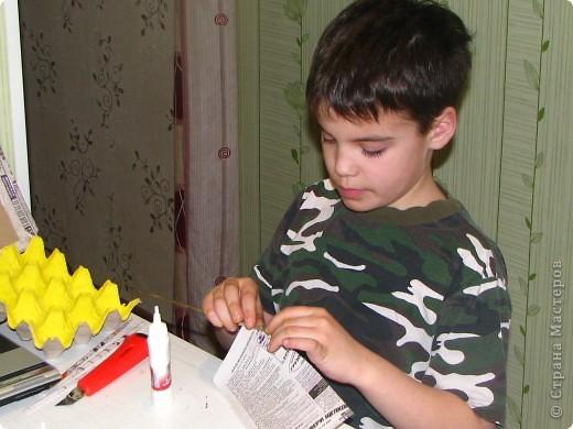 Насмотревшись на меня сын решил сделать свою, личную плетеночку для пасхи. Решил делать плетеночку по МК vista (http://stranamasterov.ru/node/59091?tid=451%2C302) спасибо ей большое! Из фоток дальше понятно, что он делал... фото 4