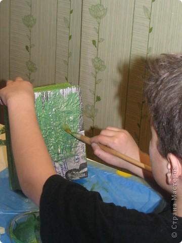 Насмотревшись на меня сын решил сделать свою, личную плетеночку для пасхи. Решил делать плетеночку по МК vista (http://stranamasterov.ru/node/59091?tid=451%2C302) спасибо ей большое! Из фоток дальше понятно, что он делал... фото 8