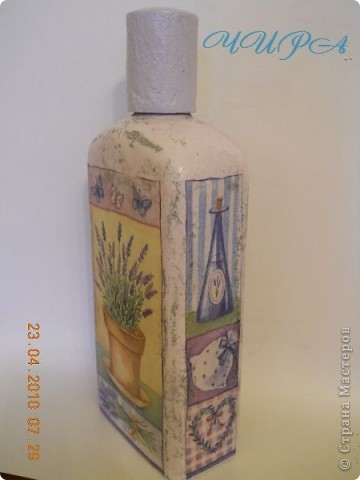 Бутылочка ЛАВАНДА. Старение,кракелюр. фото 3