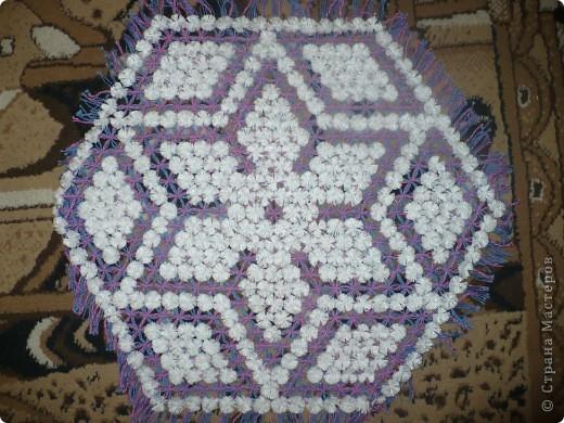 салфетки плетёные на рамке фото 3
