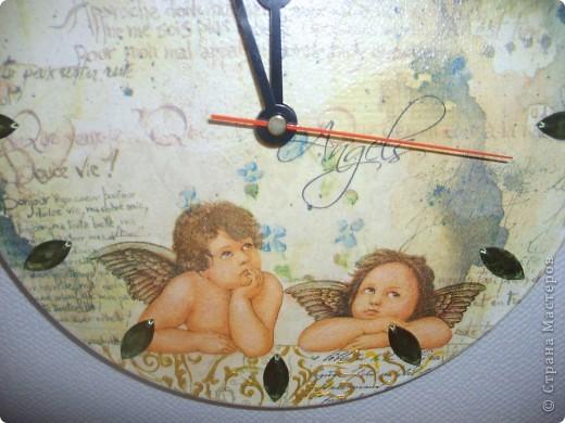 Часы Ангелы.Декупаж. фото 2