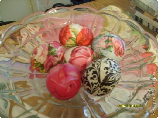 """Пасха, декупаж пасхальных яиц. Встала я с утра и подумала: """"Что в этот раз мои пасхальные яйца будут лучше чем в прошлом году!!!"""" фото 5"""
