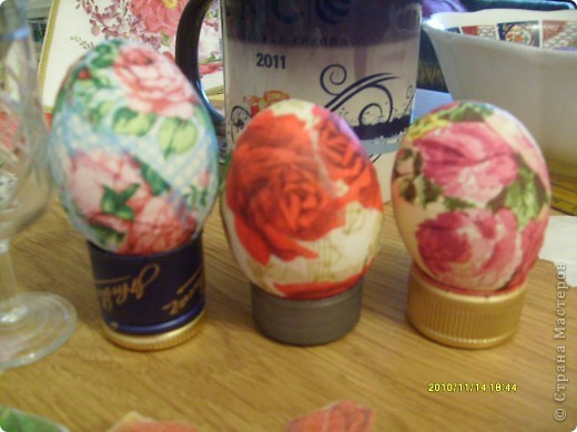 """Пасха, декупаж пасхальных яиц. Встала я с утра и подумала: """"Что в этот раз мои пасхальные яйца будут лучше чем в прошлом году!!!"""" фото 4"""