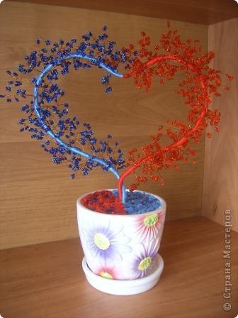 По МК Олисандры http://stranamasterov.ru/node/150505 сделали с дочерью своё дерево-сердце. Первый горшочек раскололся, во второй положили кусочки поролона, получилось. фото 1