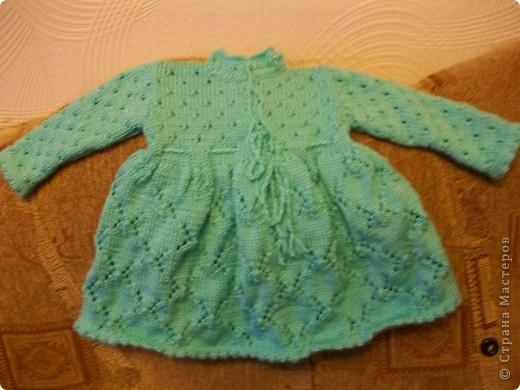 Ну вот и на вязание решилась, да немного разошлась, хватило и на кофточку, и на платье. Еще и сарафан на подходе. фото 2