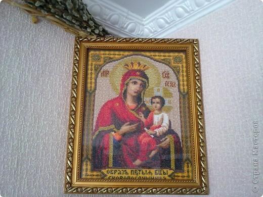 Икона весит дома в моей комнате и охраняет меня от всего плохого . Я верю в это . фото 1