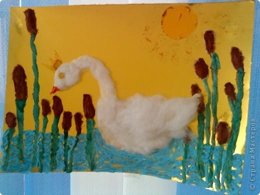 лебедь на пруду)