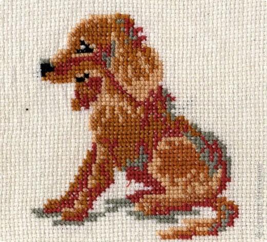 По-моему, это щенок сенбернара. Он вдохновил меня на следующие вышивки фото 2