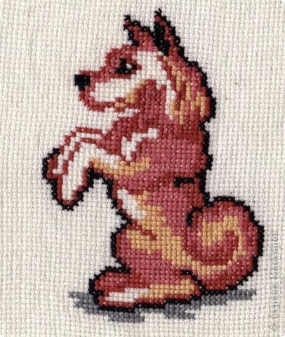 По-моему, это щенок сенбернара. Он вдохновил меня на следующие вышивки фото 4