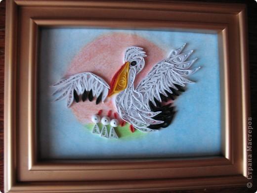Попросили сделать пеликанчика (символ учителей) к последнему звонку. Вот такой у меня получился пеликан. Заказчикам понравился. фото 1