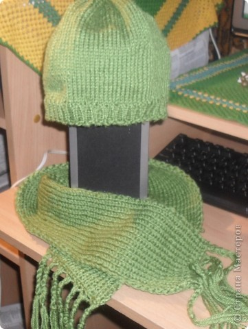 Шапка и шарфик фото 1