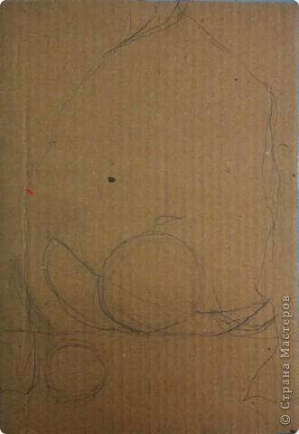 Натюрморт Макаровой Александры, 7л. Для выполнения натюрморта в  пластилиновой технике нам понадобился картон, пластилин и фантазия. фото 2
