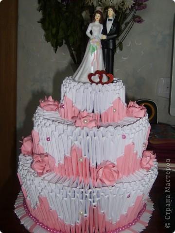 Вот такой тортик я подарила своей сестре на венчание все любовались а съесть то нельзя а так хотелось фото 1