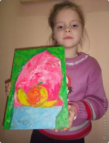 Натюрморт Макаровой Александры, 7л. Для выполнения натюрморта в  пластилиновой технике нам понадобился картон, пластилин и фантазия. фото 9