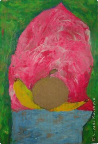 Натюрморт Макаровой Александры, 7л. Для выполнения натюрморта в  пластилиновой технике нам понадобился картон, пластилин и фантазия. фото 6