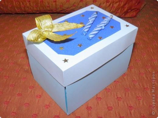 """Побродила я по """"Стране Мастеров"""". Посмотрела разные коробочки и фотоальбомы... И вот какой подарок подруге получился (на 2 годика её сыночка) фото 1"""