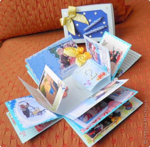 """Побродила я по """"Стране Мастеров"""". Посмотрела разные коробочки и фотоальбомы... И вот какой подарок подруге получился (на 2 годика её сыночка) фото 2"""