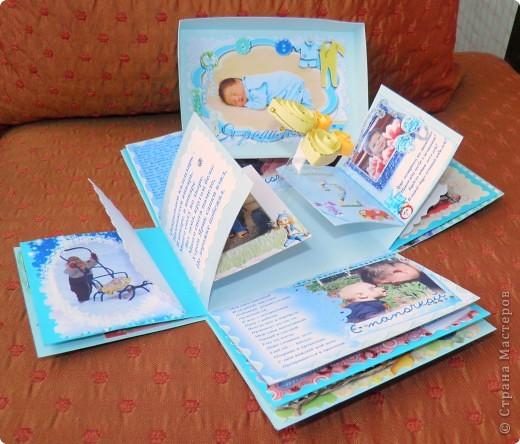 """Побродила я по """"Стране Мастеров"""". Посмотрела разные коробочки и фотоальбомы... И вот какой подарок подруге получился (на 2 годика её сыночка) фото 5"""