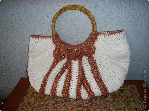 Поделка изделие Вязание крючком сумка из ПЭТ-повторялка Материал бросовый