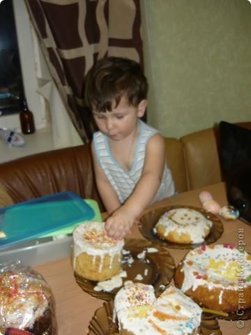 Мой пасхальный стол! Куличи первый раз пекла сама, по маминому рецепту из советской кулинарной книги фото 4