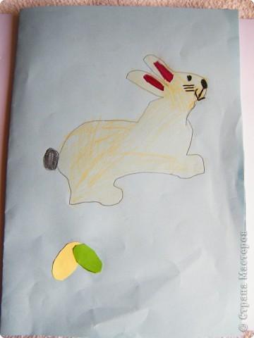 Вика сделала  в школе. И зайчик и травка принесенные оттуда. фото 28