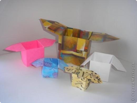 Вот такие коробочки санбо! С них начиналось оригами, как искусство. фото 1