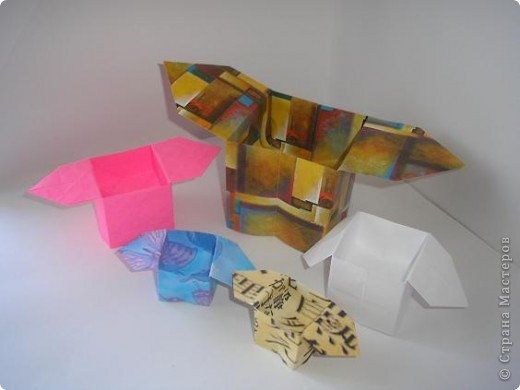 Вот такие коробочки санбо! С них начиналось оригами, как искусство. фото 2