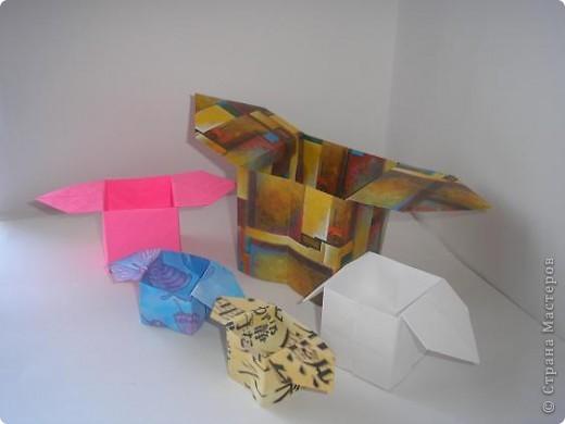 Вот такие коробочки санбо! С них начиналось оригами, как искусство. фото 3