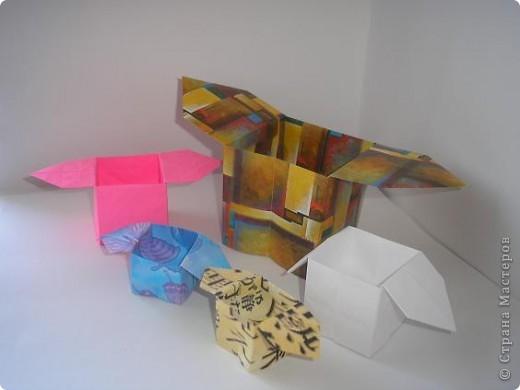 Оригами Коробочка санбо