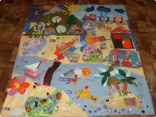 Развивающий коврик для 3 лет своими руками