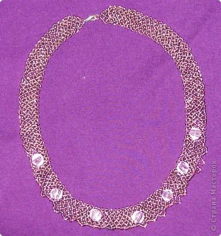 """Назвала """"пурпурное"""" колье, хотя на самом деле цвет определить затрудняюсь. фото 1"""