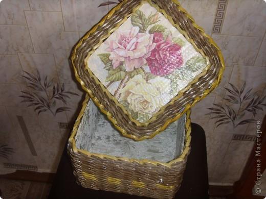 Сплела шкатулочку в подарок фото 3