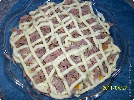 Слоеный салат с картофелем, яблоками и лососем фото 7