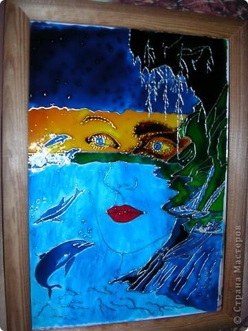 """Копия картины Густава Климта """"Поцелуй"""". Размер стекла 42*47 см.  фото 11"""