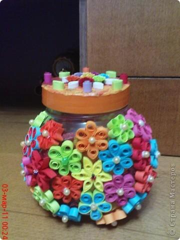 была пустая баночка из под конфет,решила её отделать! фото 1