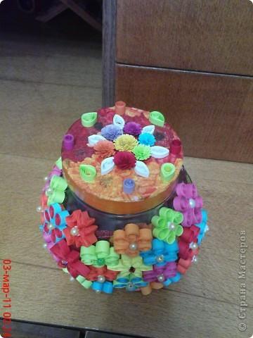 была пустая баночка из под конфет,решила её отделать! фото 2