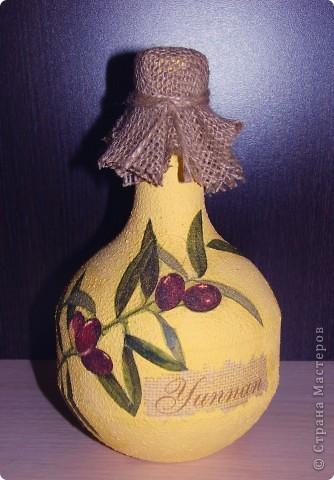 Никак не могу успокоиться, делаю уже третью бутылку с этой салфеткой, оливки меня вдохновляют.  фото 2