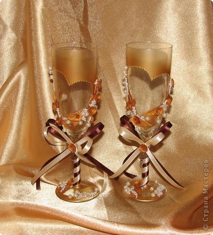"""Свадебные бокалы """"Золото"""" фото 1"""