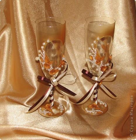 """Свадебные бокалы """"Золото"""" фото 2"""